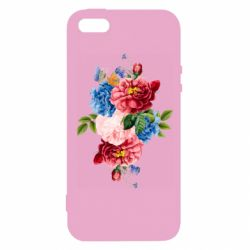 Чохол для iphone 5/5S/SE Flowers and butterfly