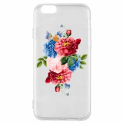 Чохол для iPhone 6/6S Flowers and butterfly