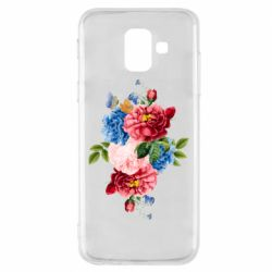 Чохол для Samsung A6 2018 Flowers and butterfly