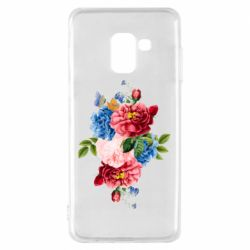 Чохол для Samsung A8 2018 Flowers and butterfly