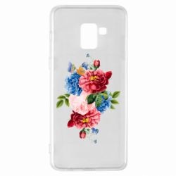 Чохол для Samsung A8+ 2018 Flowers and butterfly