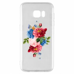 Чохол для Samsung S7 EDGE Flowers and butterfly