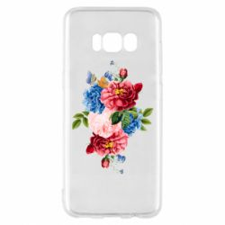 Чохол для Samsung S8 Flowers and butterfly