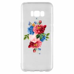 Чохол для Samsung S8+ Flowers and butterfly