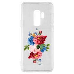 Чохол для Samsung S9+ Flowers and butterfly