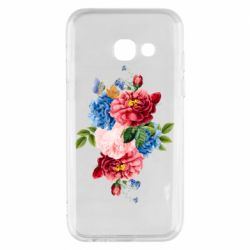 Чохол для Samsung A3 2017 Flowers and butterfly