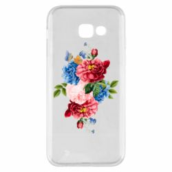 Чохол для Samsung A5 2017 Flowers and butterfly
