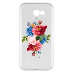 Чохол для Samsung A7 2017 Flowers and butterfly