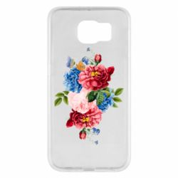 Чохол для Samsung S6 Flowers and butterfly