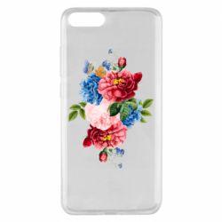 Чохол для Xiaomi Mi Note 3 Flowers and butterfly