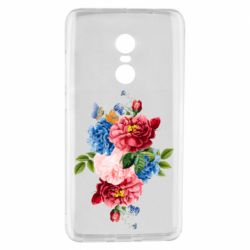 Чохол для Xiaomi Redmi Note 4 Flowers and butterfly