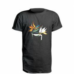 Удлиненная футболка Flowers art painting
