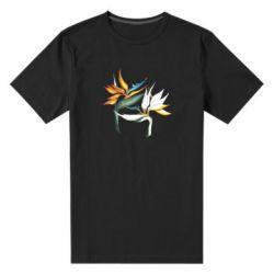 Мужская стрейчевая футболка Flowers art painting