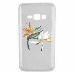 Чехол для Samsung J1 2016 Flowers art painting