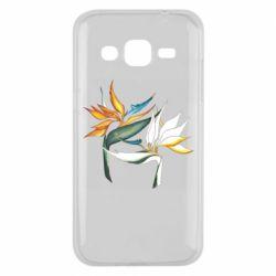 Чехол для Samsung J2 2015 Flowers art painting