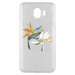 Чехол для Samsung J4 Flowers art painting
