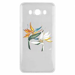 Чехол для Samsung J7 2016 Flowers art painting