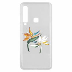 Чехол для Samsung A9 2018 Flowers art painting