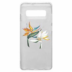 Чехол для Samsung S10+ Flowers art painting