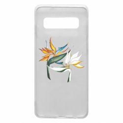 Чехол для Samsung S10 Flowers art painting