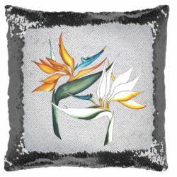Подушка-хамелеон Flowers art painting