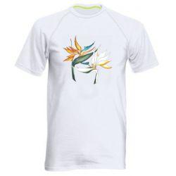 Мужская спортивная футболка Flowers art painting