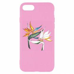 Чехол для iPhone 7 Flowers art painting