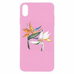 Чехол для iPhone X/Xs Flowers art painting