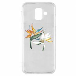 Чехол для Samsung A6 2018 Flowers art painting