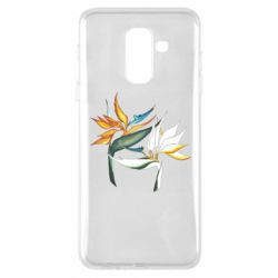 Чехол для Samsung A6+ 2018 Flowers art painting