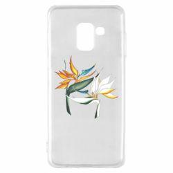 Чехол для Samsung A8 2018 Flowers art painting