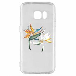 Чехол для Samsung S7 Flowers art painting