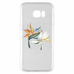 Чехол для Samsung S7 EDGE Flowers art painting