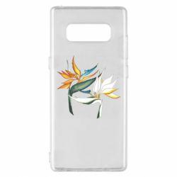 Чехол для Samsung Note 8 Flowers art painting