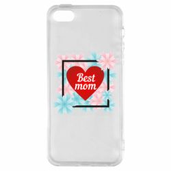 Чохол для iphone 5/5S/SE Flowers Best mom