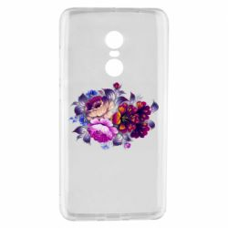 Чехол для Xiaomi Redmi Note 4 Flowers in a cold shade