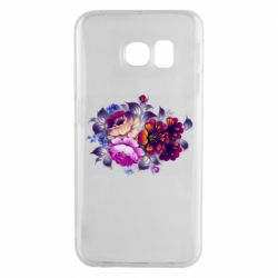 Чехол для Samsung S6 EDGE Flowers in a cold shade