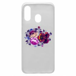 Чехол для Samsung A40 Flowers in a cold shade