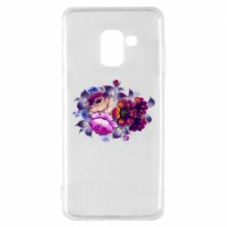 Чехол для Samsung A8 2018 Flowers in a cold shade