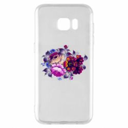 Чехол для Samsung S7 EDGE Flowers in a cold shade
