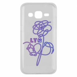 Чехол для Samsung J2 2015 Flowers line bts