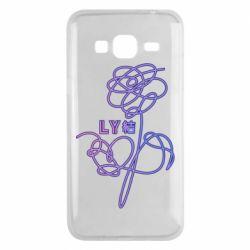 Чехол для Samsung J3 2016 Flowers line bts