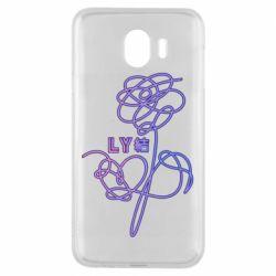 Чехол для Samsung J4 Flowers line bts