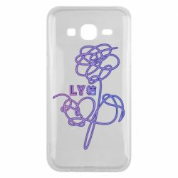 Чехол для Samsung J5 2015 Flowers line bts