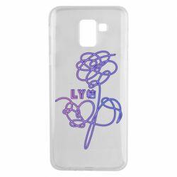 Чехол для Samsung J6 Flowers line bts