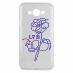 Чехол для Samsung J7 2015 Flowers line bts