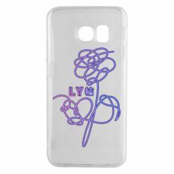 Чехол для Samsung S6 EDGE Flowers line bts