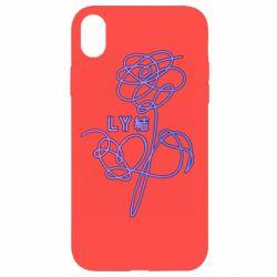 Чехол для iPhone XR Flowers line bts