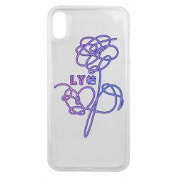 Чехол для iPhone Xs Max Flowers line bts