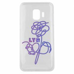 Чехол для Samsung J2 Core Flowers line bts